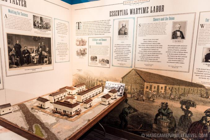 Camp Barker Model and Exhibit at the African American Civil War Memorial in Washington DC