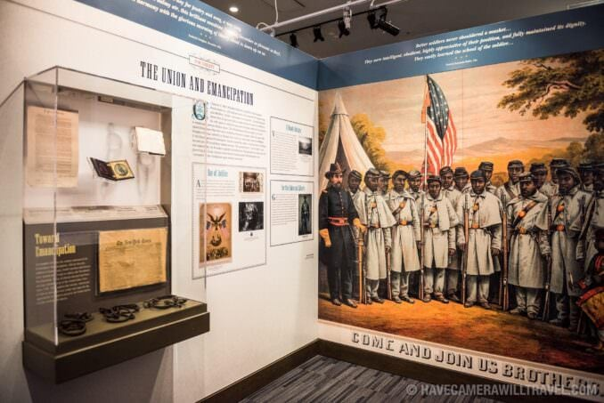 Exhibit on The Union and Emancipation at the African American Civil War Memorial in Washington DC