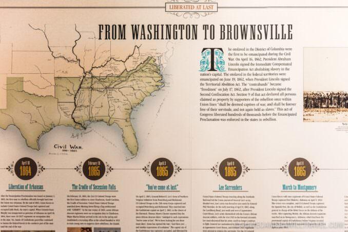 Exhibit Panel in the African American Civil War Memorial in Washington DC
