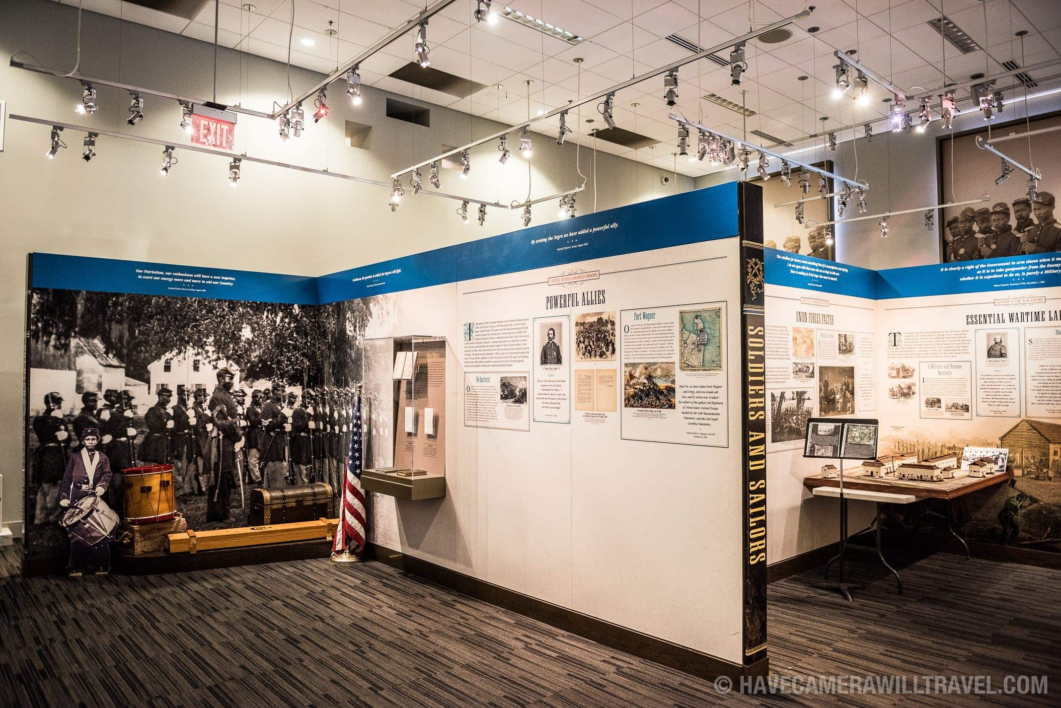 Exhibits in the African American Civil War Memorial in Washington DC