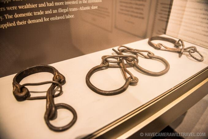 Shackles on Display at the African American Civil War Memorial in Washington DC