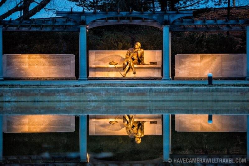 George Mason Memorial Reflection in Washington DC