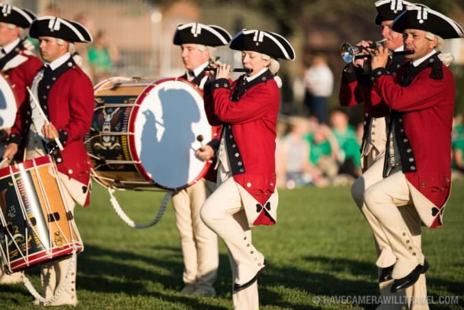 Drummers of the Old Guard Fife and Drum Corps at the Army Twilight Parade at Fort Myer, Virginia