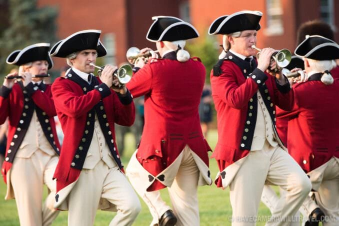 Old Guard Fife and Drum Corps at the Army Twilight Parade at Fort Myer, Virginia