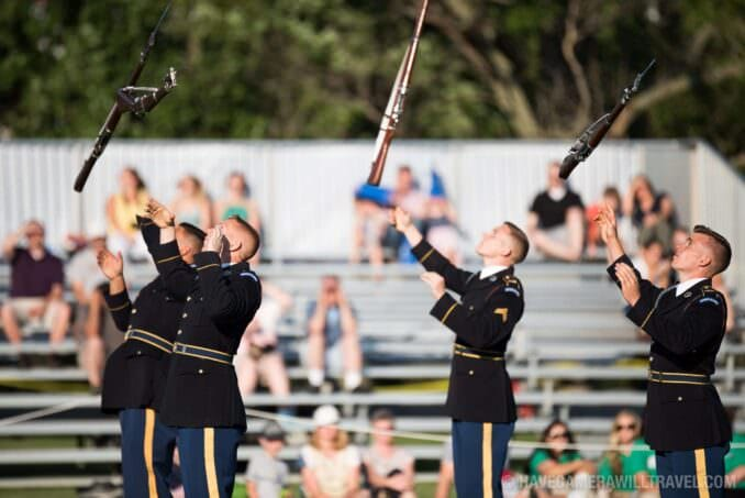 U.S. Army Drill Team at the Army Twilight Parade at Fort Myer, Virginia