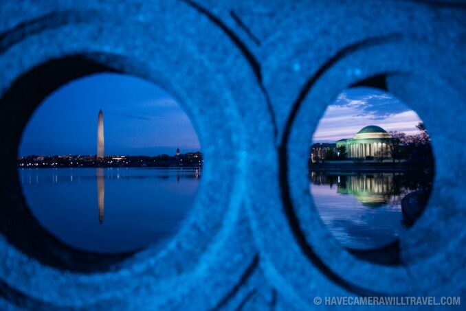 Portals on the Bridge with colors at the Tidal Basin